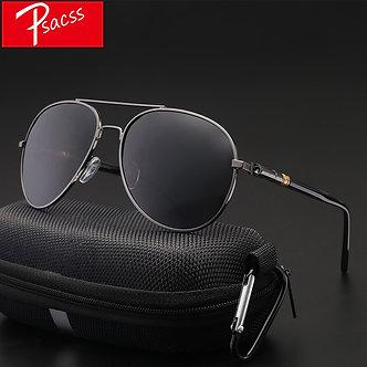 Psacss Classic Pilot Photochromic Sunglasses Men Driving Clear Polarized Lens