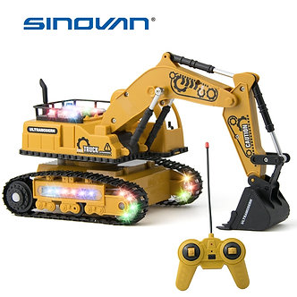 4CH Simulation RC Truck Excavator Toys With Music and Light Children's Boys Gift