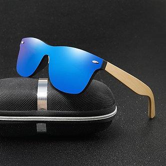 Wood Sunglasses Men Women Square Bamboo Women for Women Men Mirror Sun Glasses