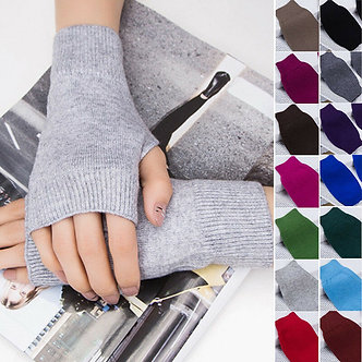 1 Pair Winter Gloves Female Fingerless Gloves Without Fingers Women Cashmere