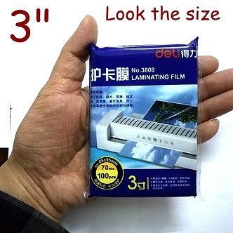 "5 Bag/Lot 500 Sheets Deli 3inch 70mic Thermal Laminating Film 3""(65x95mm)"