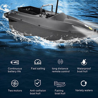 500m Rc Fishing Bait Boat RC Fish Finder Rowing Nesting Ship Hook Boat Automatic