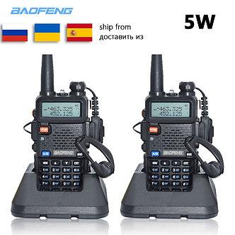 2pc Baofeng UV-5R Walkie Talkie VHF UHF Uv5r Baofeng 5W Portable Outdoor