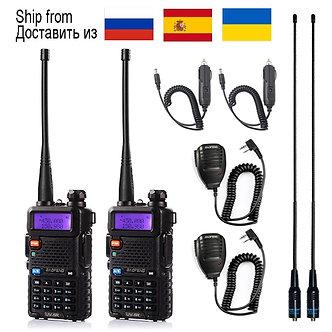 1pcs/2pcs Walkie Talkie Baofeng Uv-5r Radio Station 5W Portable Baofeng Uv 5r