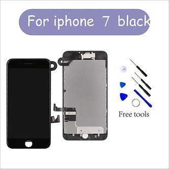 """For Full iPhone 7 4.7"""" Touch Screen Display Replacement Digitizer + Camera Black"""