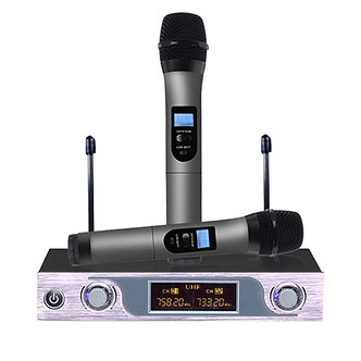 ARCHEER UHF Wireless Dual Handheld Microphone System w/ LCD Display + 2 Mic