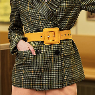 AEL Fashion Belts for Women Vintage Fabric Waist Buckle With Silvery GROMMET