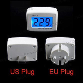 AC Panel Meter LCD Blue Backlight Digital Voltage Meter Tester Voltmeter