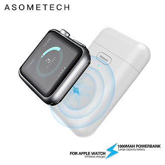 1000mAh Wireless Charger Mini Power Bank for I Watch 123456 Magnetic Portable