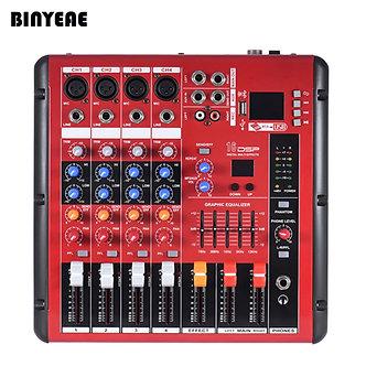 4 Channel Mini Table De Mixage, Mixer With USB Bluetooth Control, XLR/6.3 MM