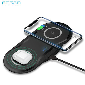 20W Wireless Charger Pad for iPhone 11 XS XR X 8 AirPods Pro USB C 10W Dual QI
