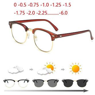 1.56 Aspheric Green Film Sun Photochromic Prescription  -0.5 -1 to -6.0