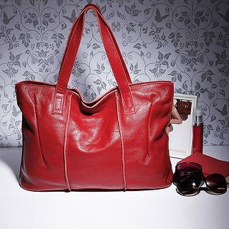 100% Genuine Leather Bag Large Women Leather Handbags Famous Brand Women