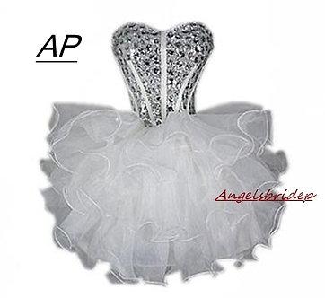 Angelsbridep Sparkling Bling Bling Crystals Short Homecoming Dresses 2021 Lace