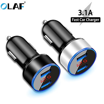 3.1A LED Display Dual USB Car Charger Universal Mobile Phone Car-Charger