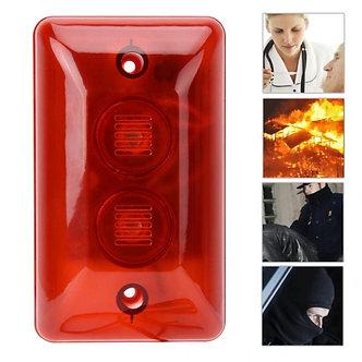 12V LED Wired Alarm Strobe Siren Sound Siren Flashing Light Security Alarm