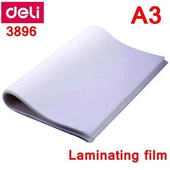 50pcs/Lot Deli 3896 Hot Pouch Laminator Film A3(303x426mm) Size 80 Mic Photo