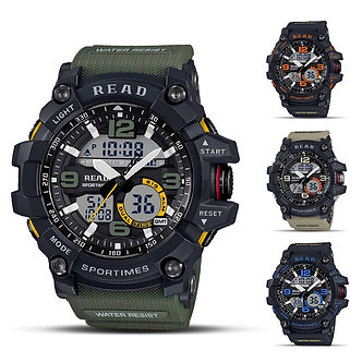 2020 READ Sport Watches for Men Waterproof Digital Watch LED Large Dail Luminous