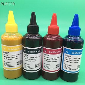 4 Color X 100ML Universal Sublimation Ink Refill for Epson Desktop Inkjet