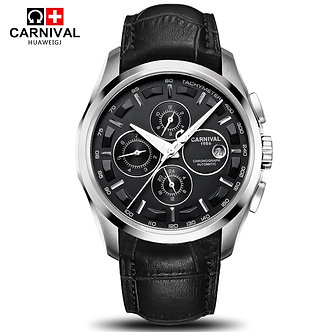 Automatic Mechanical Switzerland Brand Men Wristwatches Fashion Luxury Leather