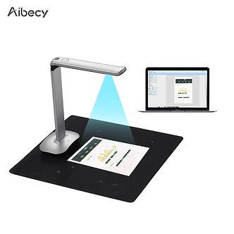 Aibecy F50 Foldable HD USB Book Document Camera Scanner Foot Pedal LED Light AI