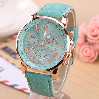 1PC Quartz Watch  Leather Band Women Ladies Men Fashion Bracelet Wrist Watch