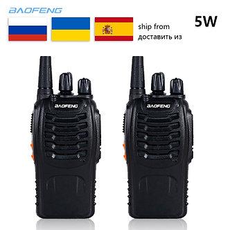2 PCS Baofeng BF-888S Walkie Talkie 5W Handheld Bf 888s UHF 16CH Comunicador