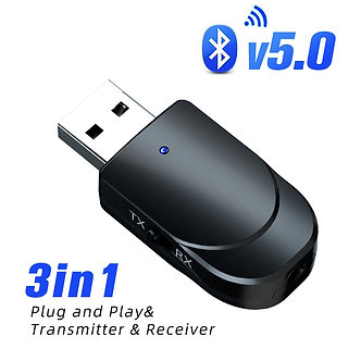 3 IN 1 USB Bluetooth Adapter Aux Audio Bluetooth Receiver 3.5mm Jack Output