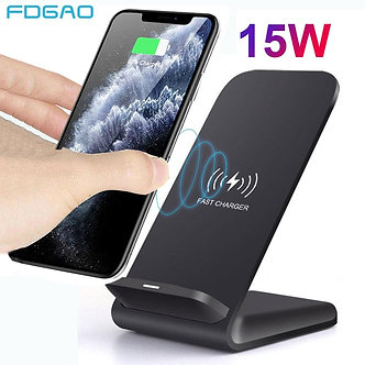 15W Qi Wireless Charger Stand for iPhone 12 11 Pro XS MAX XR X 8 Samsung