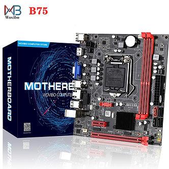 B75 Motherboard LGA 1155 Dual Channel 16G DDR3 Memory SATA III USB 3.0 Computer