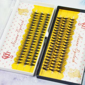 1 Set  C 20/30d Beauty Women Girls False Eyelashes Wave Individual Eyelash