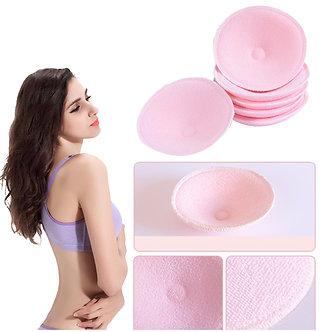 5Pairs Pregnancy Breast Nursing Pads Cotton+Sanitary Sponge Reusable 3D Cup