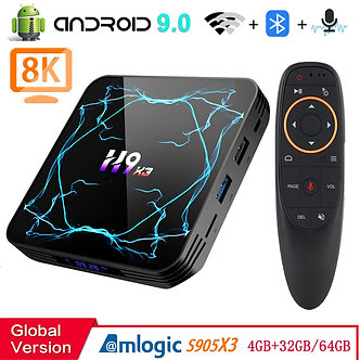 Android 9.0 TV BOX Amlogic S905X3  8K H.265 Media Player 3D Video  2.4G&5.8G Wif