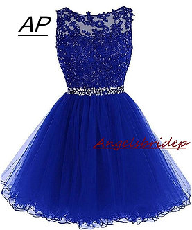 ANGELSBRIDEP Sexy Short/Mini Homecoming Dresses 2021 With Appliques Beading