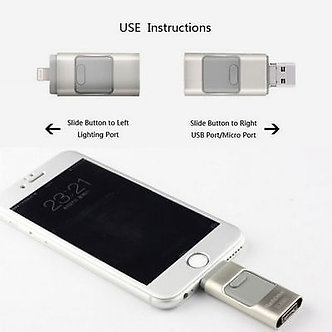 ​​​​​​​128GB i Flash Drive 3 in1 USB Memory Stick U Disk for Android/IOS iPhone