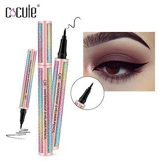 2 in 1 Liquid Eyeliner Pen Eye Liner Waterproof Pencil Long-Lasting Liquid