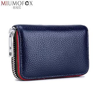 2020 New Fashion Women's Card Bag Genuine Leather Men Credit Card Holder Rfid