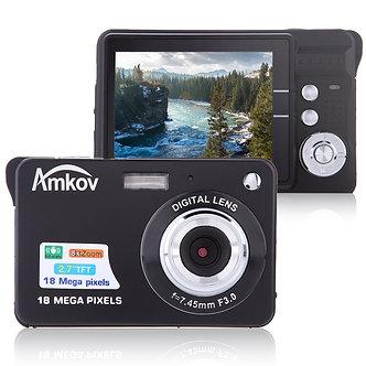 "Amkov CDC32 2.7"" TFT HD Mini Digital Camera 18MP 8x Zoom Video Camera Smile"