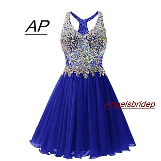 ANGELSBRIDEP V-Neck Homecoming Dresses Sexy Above Knee Cocktail Dress Fashion