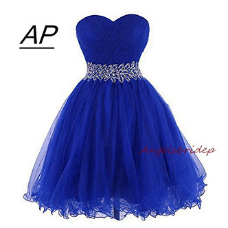 ANGELSBRIDEP Sweetheart Short/Mini Homecoming Dress for Graduation Sweetheart