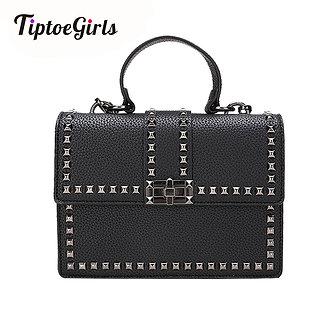 2021 Brand Women Bags Luxury Handbags Women Messenger Bags Cover Rivet Bag