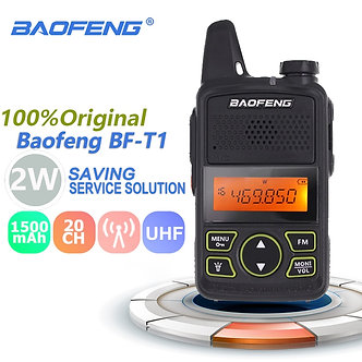 100% Original BAOFENG BF-T1 MINI Walkie Talkie UHF 400-470MHz Portable T1