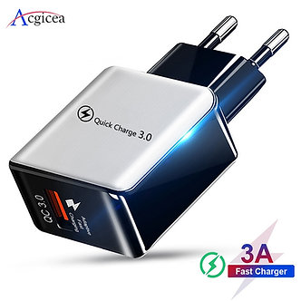 18W Quick Charge 3.0 Fast Mobile Phone Charger EU Plug Wall USB Charger Adapter