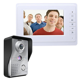 7 Inch TFT LCD Video Door Phone Visual Video Intercom Speakerphone Intercom