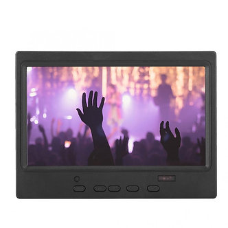 7 Inch Portable Monitor 1024x600 16:9 Multi-Functional HD Display Support VGA