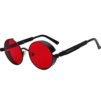 2021 Metal Steampunk Sunglasses Men Women Fashion Round Glasses Brand Design
