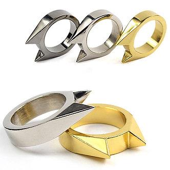 1Pcs Women Men Safety Survival Ring Tool EDC Self Defence Stainless Steel Ring