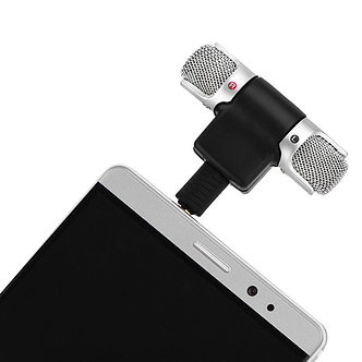 Mini Stereo Microphone Audio Sound Recorder with 3.5mm Jack for Smart Phone NJ