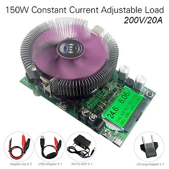 200V20A150W Adjustable Constant Current Electronic Load Battery Tester