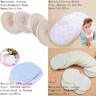 4/6/10/12pcs Washable Breathable Absorbency Breast Pads Anti-Overflow Maternity